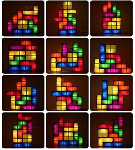 Tetris Lampe - Stapelbare LED Tischleuchte