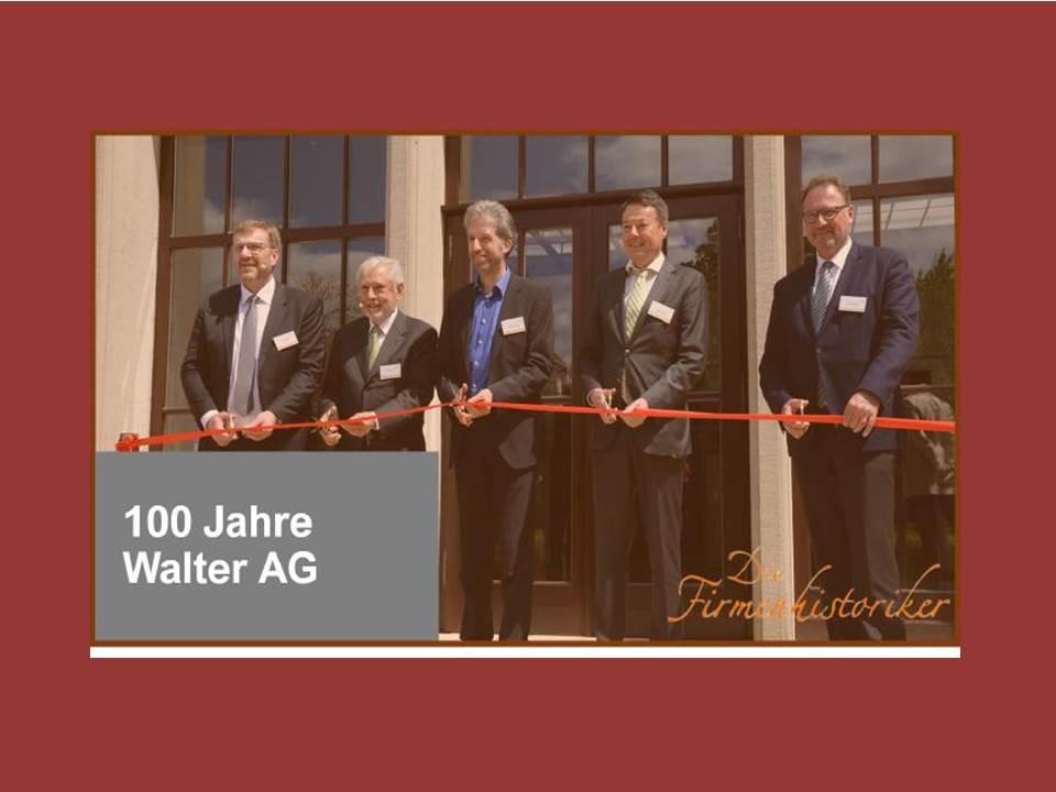 100 Jahre Walter AG   D.I.E. Firmenhistoriker planen ein Firmenmuseum (Copyright: D.I.E. Firmenhistoriker GmbH)