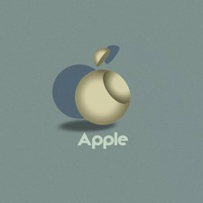 Das Apple Logo im Bauhaus Stil (Designed by Vladimir Nikolic / 99designs)