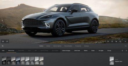 Bild: Screenshot der Aston Martin Konfigurator Website