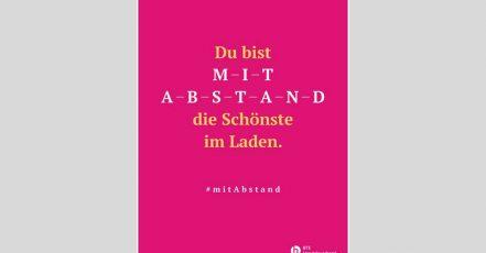 Bild: Kampagnenmotiv (BTE-Kampagne 1 #mitAbstand)