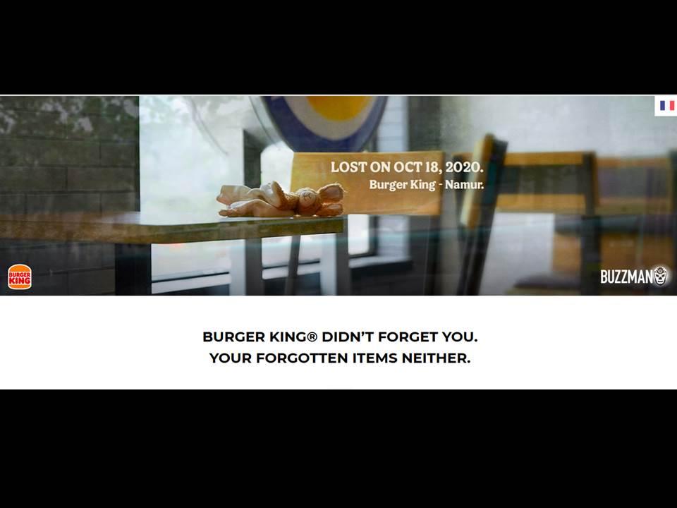 Bild: Screenshot Buzzman.eu | Wiedereröffnungs-Kampagne für BURGER KING Belgien