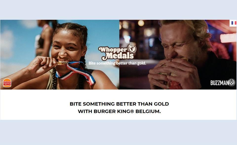 """Bild: BURGER KING Belgien vergibt die """"1st Whopper Medals"""" - Eine Kampagne von Buzzman (Quelle: https://buzzman.eu/en)"""