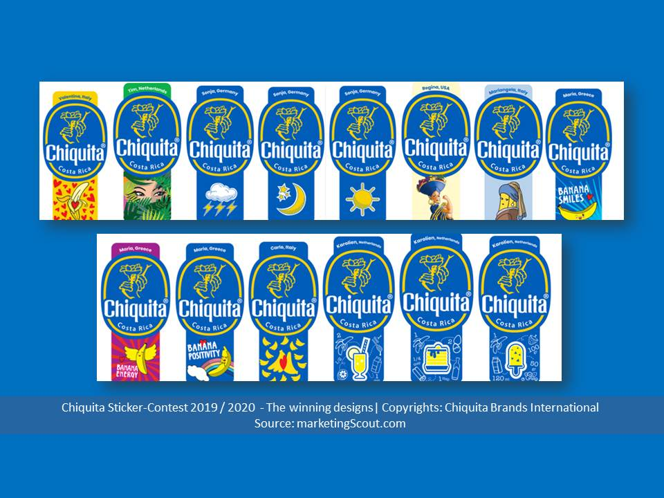 Bild: Chiquita Sticker-Contest – The winning designs 2020 | Copyrights: Chiquita Brands International