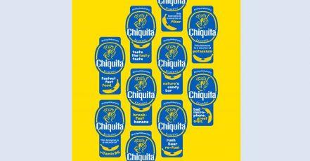 Bild: Chiquita präsentiert die ernährungsphysiologischen Eigenschaften von Bananen in einer neuen Sticker-Kollektion