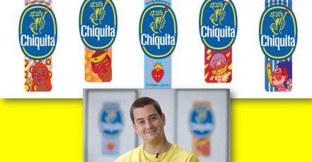 Screenshot: Kunstvolle Produkt-Aufkleber für Chiquita von Ricardo Cavolo