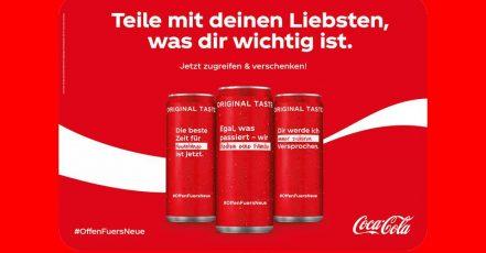Bild: Motivations-Kick – Gute Vorsätze auf personalisierten Dosen von Coca-Cola (Quelle / Copyrights: Coca-Cola / Proximity)