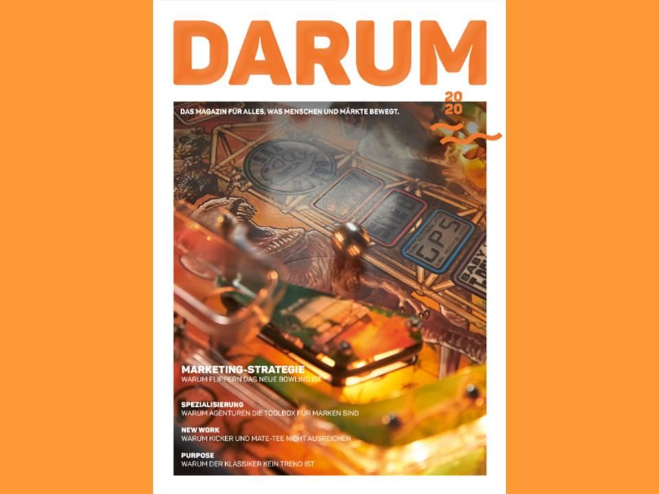 Bild: Das Cover der Erstausgabe von DARUM – dem neuen Printmagazin von husare