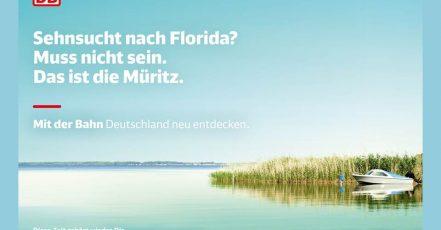 Bild: Deutschland neu entdecken – Die crossmediale Kampagne zur Urlaubssaison 2020 der Deutschen Bahn wurde von der Agentur Ogilvy konzipiert.