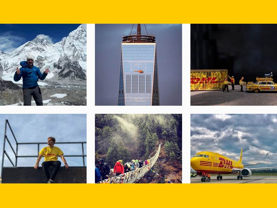 Screenshot: DHL Express on Instagram (DHLexpress https://www.instagram.com/dhlexpress/?hl=de)