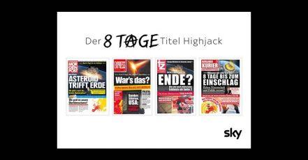 """Ad Special: Der """"8 Tage""""-Titel-Highjack von Sky (Copyright: Sky Deutschland)"""