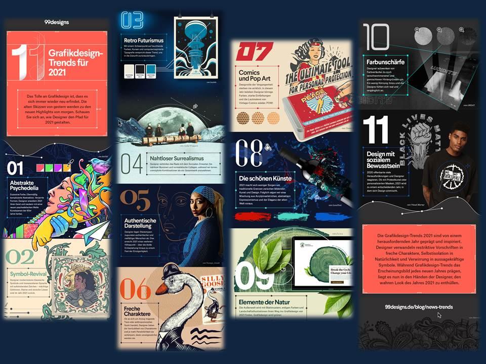 Designtrends 2021_99designs_11 Trends_infografik