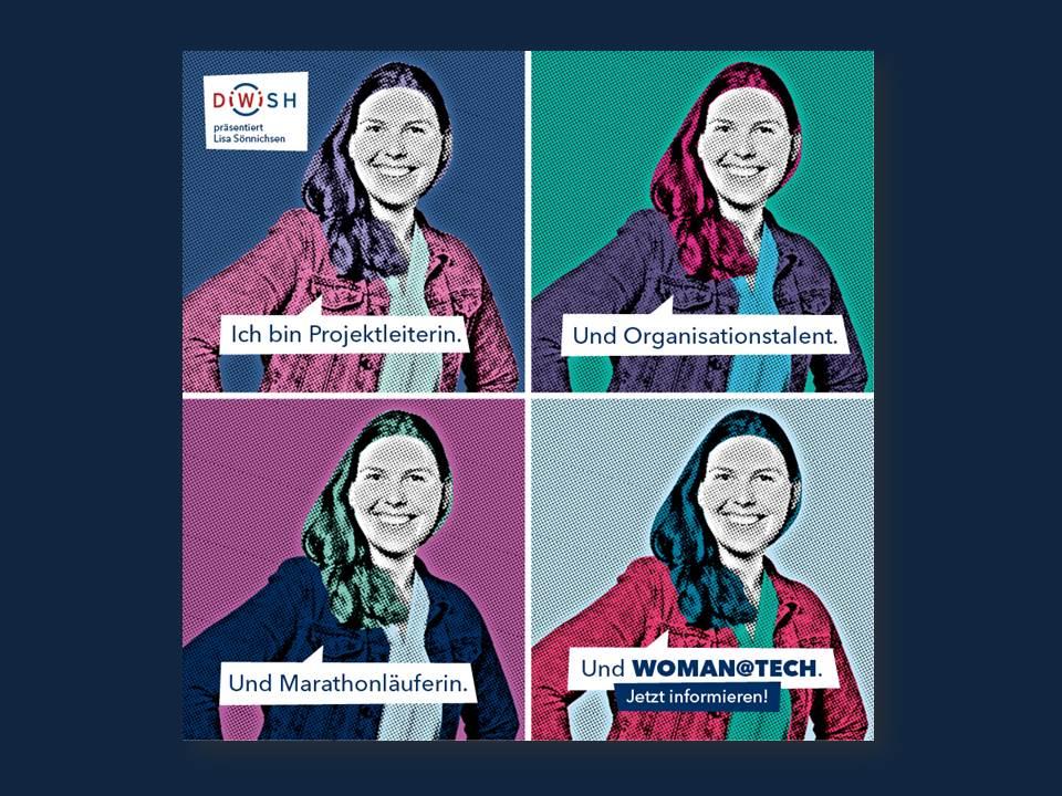 Kampagnenmotiv DiWiSH_Women@Tech_LisaSönnichsen (Foto: New Communication)