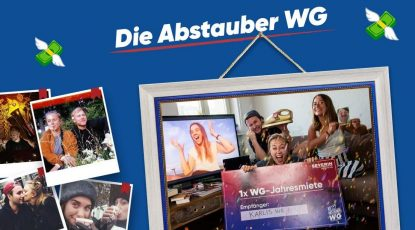 "Screenshot: Website ""Die Abstauber WG"" – Deutschlands coolste WG (https://www.abstauber-wg.de)"