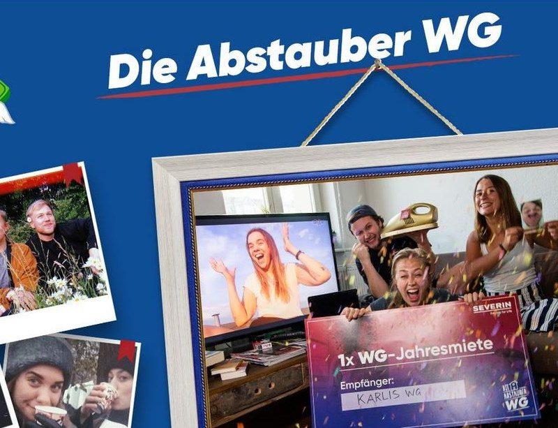 """Screenshot: Website """"Die Abstauber WG"""" – Deutschlands coolste WG (https://www.abstauber-wg.de)"""