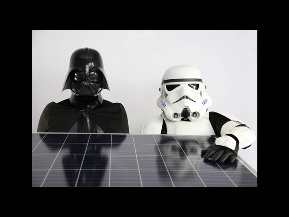 """Die """"dunkle Seite der Macht"""" mit Solar-Modul  (Foto: E.ON Energie Deutschland GmbH)"""