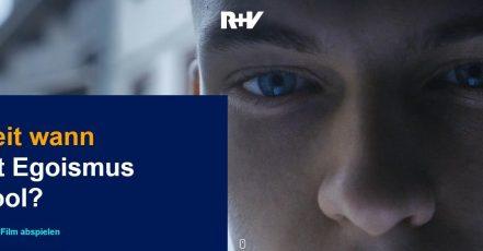 Die neue R+V Kampagne 2020. Screenshot Kampagnen-Microsite: https://www.nicht-allein.de/