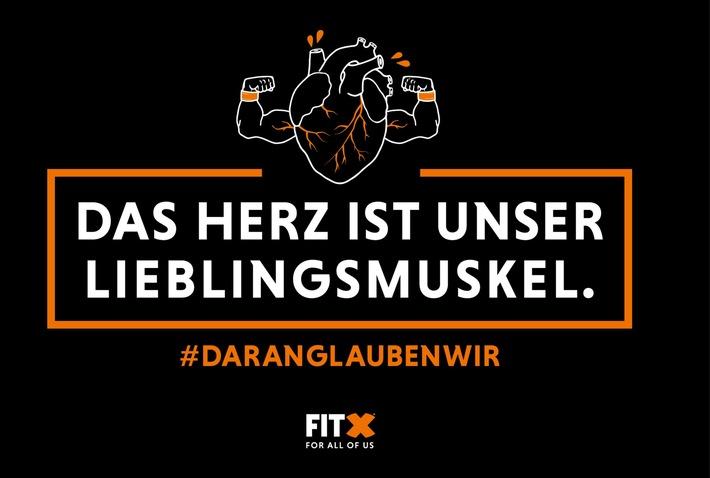 FitX Kampagnenmotiv #DARANGLAUBENWIR