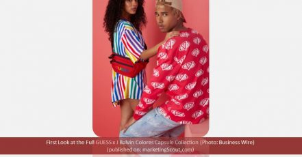 Ein erster Blick auf die geplante GUESS x J Balvin Colores Capsule Collection (Photo: Business Wire)