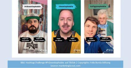 Bild: Hashtag-Challenge #Präventiophobie auf TikTok (Copyrights: Felix Burda Stiftung)