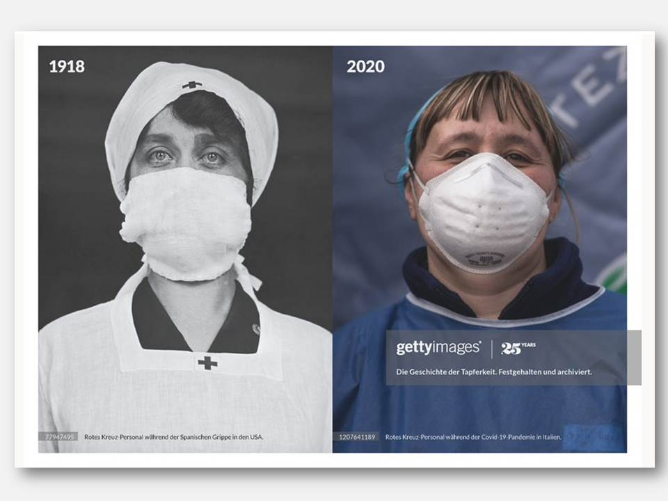 """Bild: Motiv der """"History Repeats""""-Kampagne von Getty Images in Zusammenarbeit mit der Kreativagentur Havas"""
