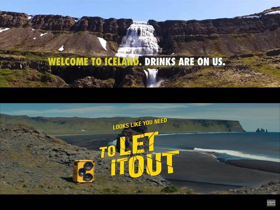 "Titelbild: Kollage aus den Island Kampagnen ""Drinks are on us"" (2019) und ""Let it out"" (2020)"