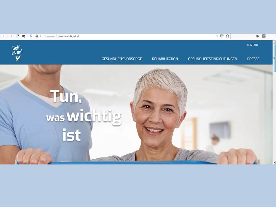 """Screenshot: Website der Initiative """"Tun was wichtig ist"""" (Link: https://www.tunwaswichtigist.at/)"""