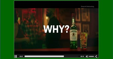 Bild: Screenshot Jameson Video (Quelle: pernod-ricard.de)