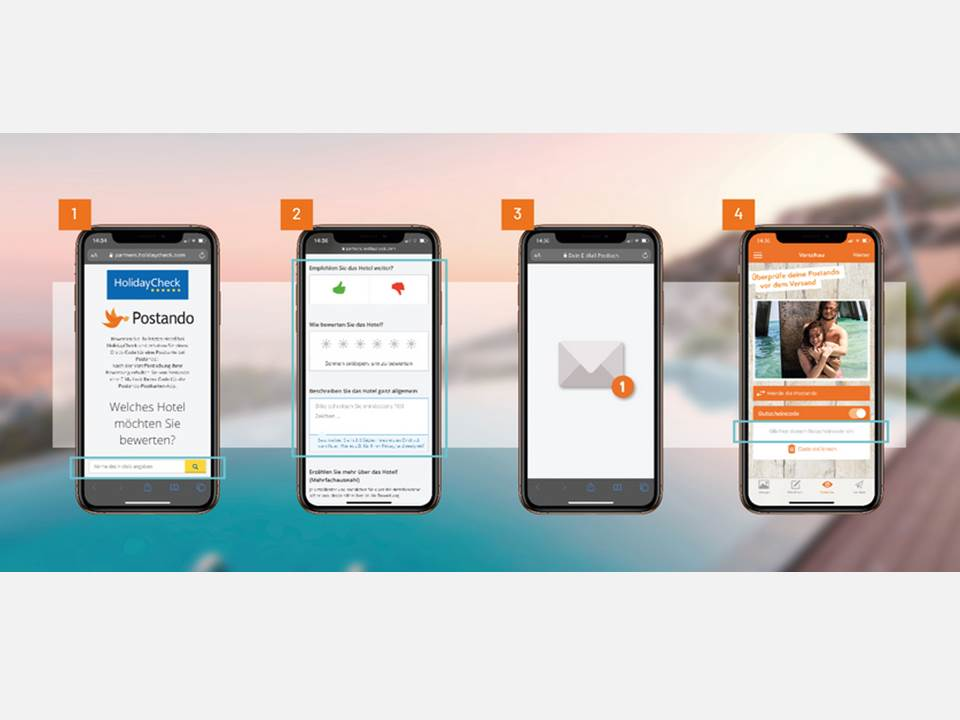 Bild: Neue Kooperation zwischen Postando und HolidayCheck_ In 4 Schritten zur Gratis-Urlaubskarte