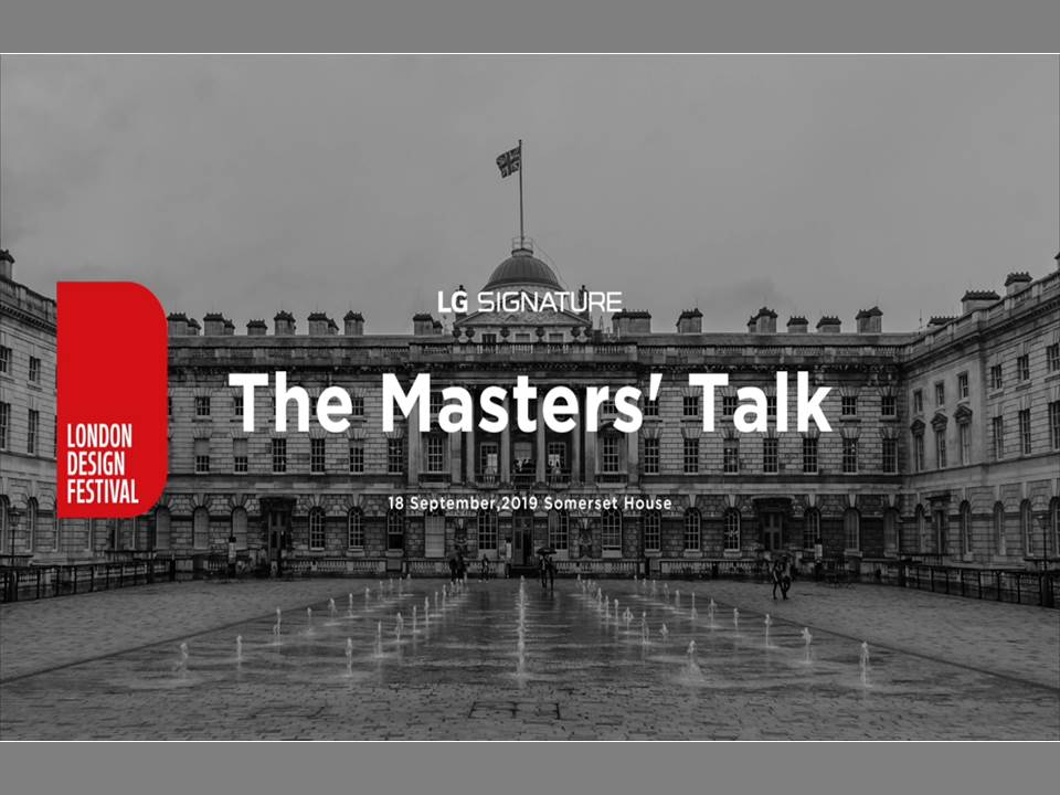 Screenshot: LG Signature Video_The Masters' Talk_London Design Festival 2019