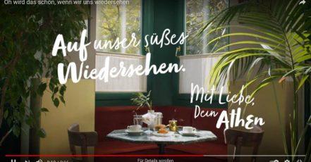 """Bild: Screenshot aus einer Video-Postkarte der digitalen Kampagne """"Love, Athens"""""""