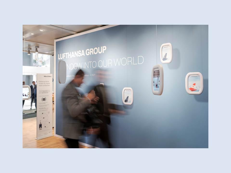 Lufthansa Messestand (innen) ITB 2019