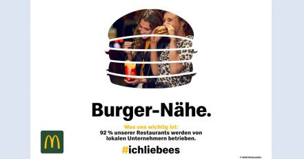 Bild: Kampagnen-Motiv der McDonald's Vertrauenskampagne 2020 (Copyright: McDonald's Deutschland LLC)