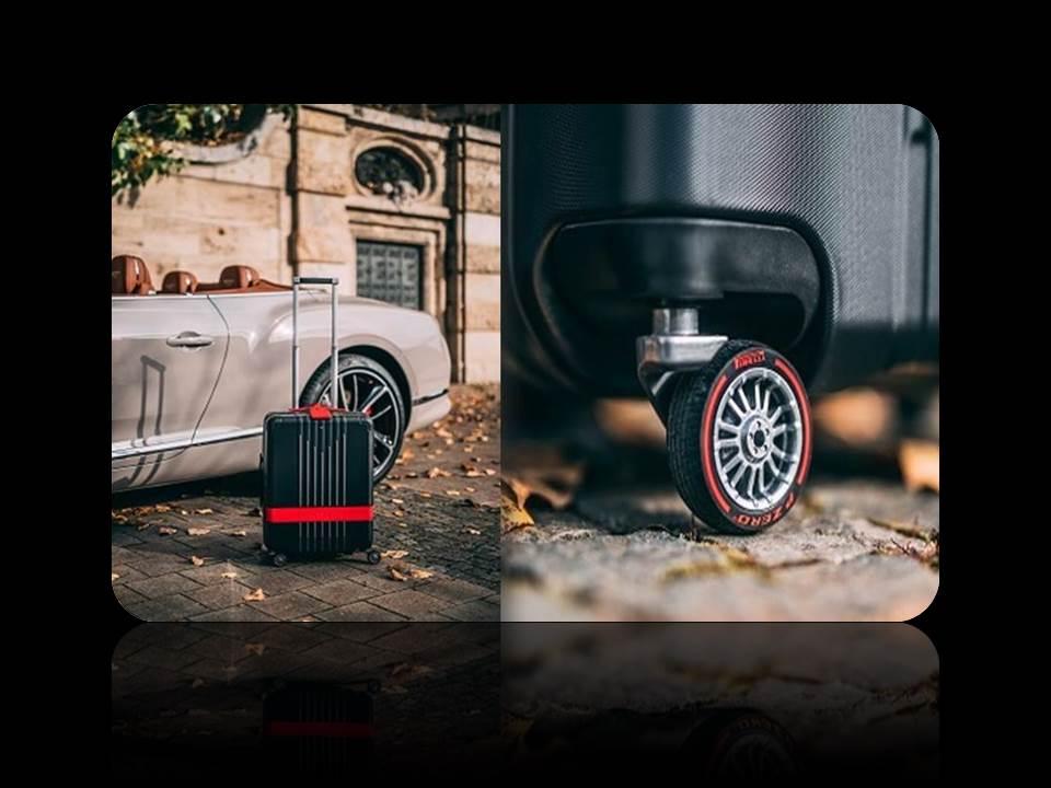 Bild: Markenkooperation: Montblanc-Trolley mit Pirelli Rädern (Fotos / Copyrights: PIRELLI DEUTSCHLAND GmbH)