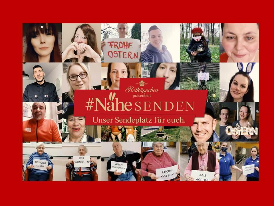 Bild: #NäheSENDEN Oster-Kampagne 2020 von Rotkäppchen und Ogilvy