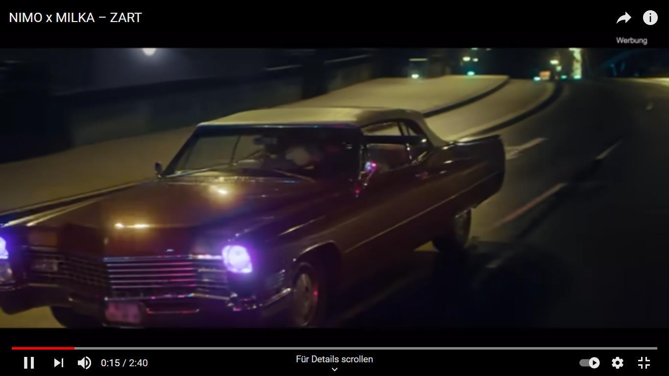 """Screenshot aus dem Musikvideo """"Zart"""" – Deutschrapper NIMO x Milka – 08.04.2021 (https://www.youtube.com/watch?v=ENsmRY_dGEM)"""