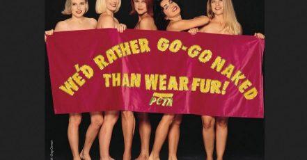 """Bild: PETA Kampagnen-Motiv der ersten Stunde - Die Rockikonen The Go-Go's posierten zu Beginn der 90er Jahre hüllenlos für ein """"Lieber nackt als im Pelz""""-Poster"""