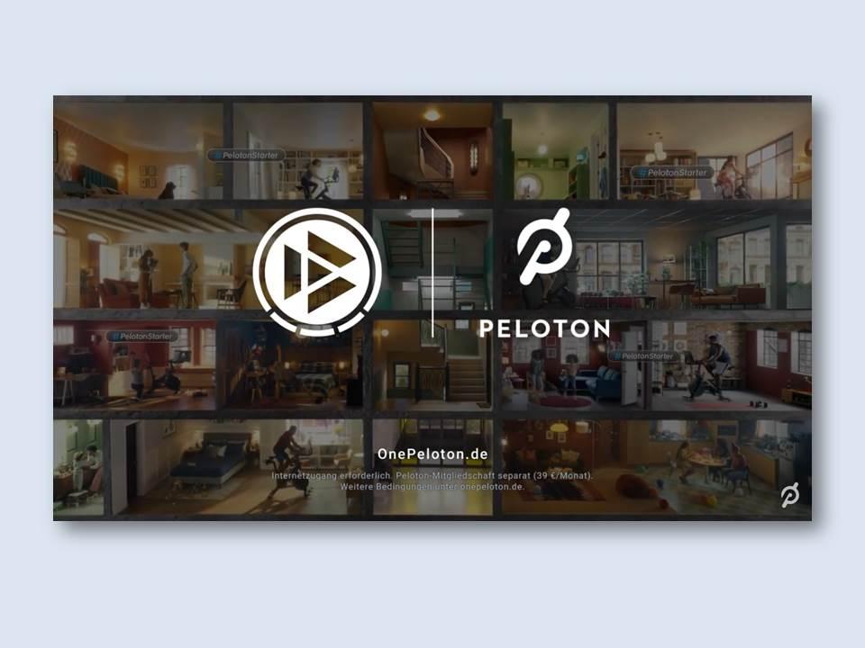 Peloton – Partner der DFB Akademie | Screenshot aus dem Kampagnen-Video Juni 2021 https://www.youtube.com/watch?v=aqU7CfHBG5s