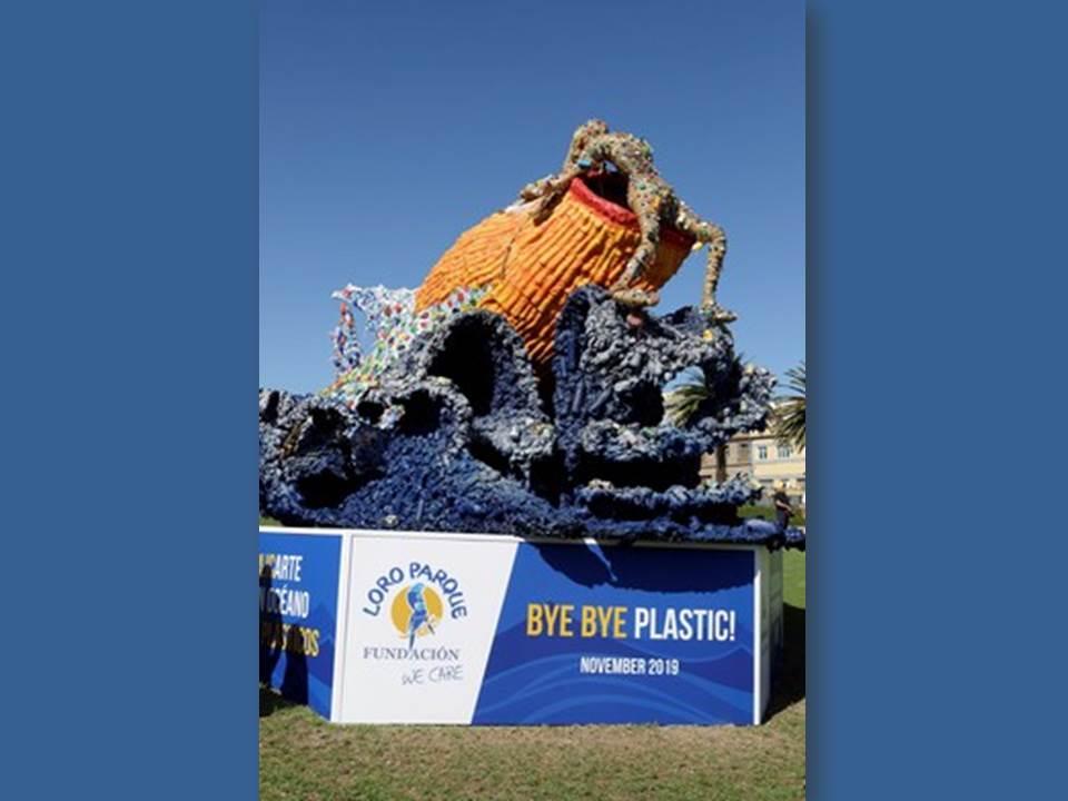 Bild: Loro Parque Plastikskulptur (Quelle / Copyright: Loro Parque Foundation)