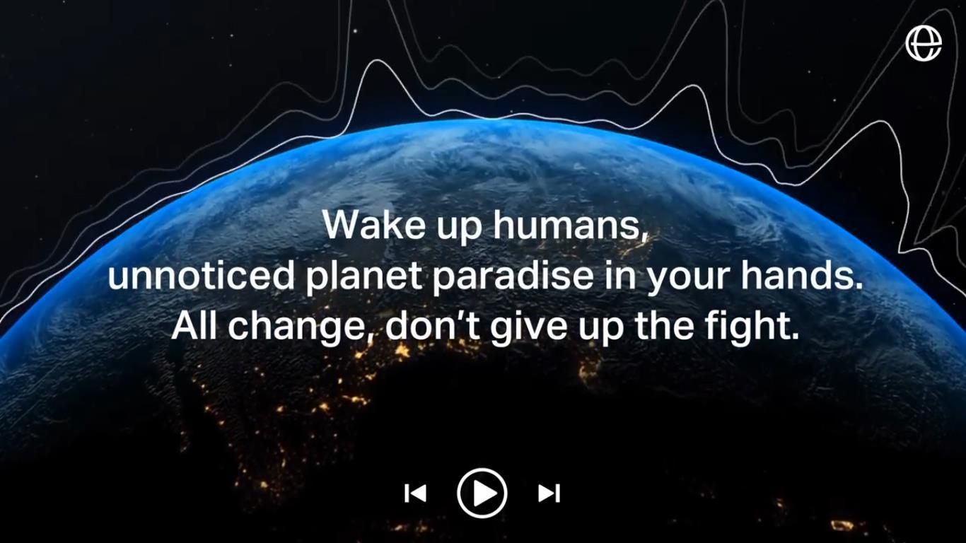 Screenshot aus dem Video zur Aktion #PlaylistsForEarth (Quelle: https://www.youtube.com/watch?v=7qyjOLxhpV4