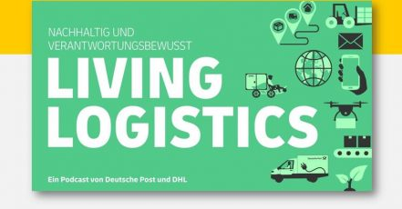 "Titelbild: Podcast ""Living Logistics"", Deutsche Post DHL Group"