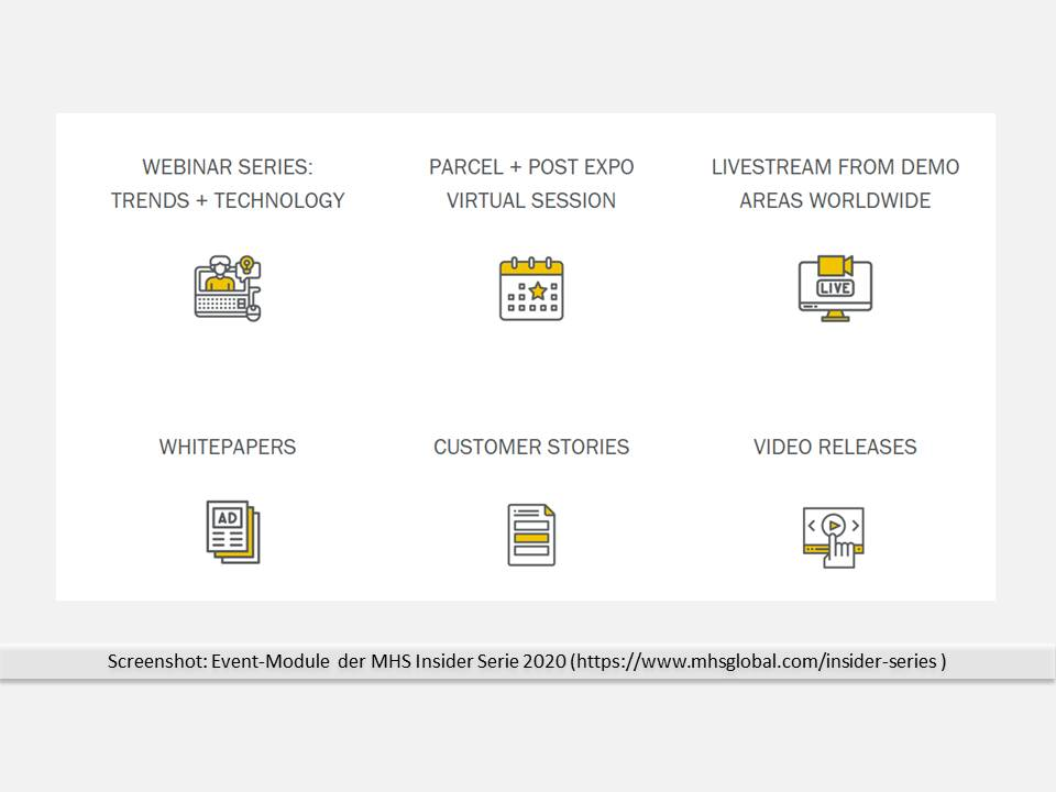 Screenshot: Event-Module der MHS Insider Serie 2020 (Quelle: https://www.mhsglobal.com/insider-series)