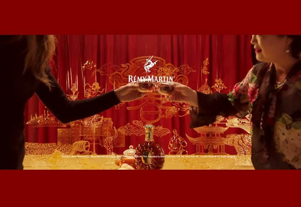 """Screenshot: Making-of-Video der Rémy Martin XO """"SWEET ART"""". Die bekannte Spirituosen-Marke wünscht ein """"süßes Jahr des Ochsen""""."""