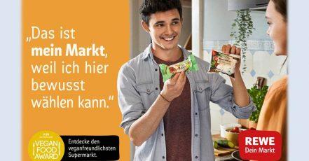 Bild: Kampagnenmotiv REWE Vegane Auswahl (Copyrights: REWE Markt GmbH)