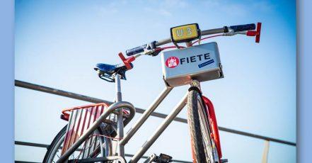 """© """"Fahr ein schöneres Hamburg"""" / Radkampagne präsentiert mit dem U3-Fiete das meistgefahrene Fahrrad der Welt (Quelle: obs/Jung von Matt/sports GmbH)"""