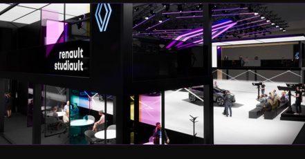 """Bild: Der neue Messestand """"Renault studiault"""" auf der IAA Mobility 2021"""