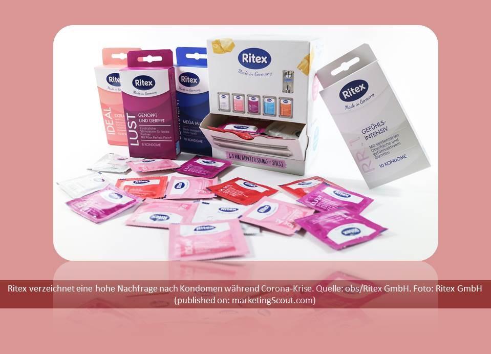 Bild: Ritex verzeichnet eine hohe Nachfrage nach Kondomen während Corona-Krise. Quelle: obs/Ritex GmbH. Copyrights / Foto: Ritex GmbH