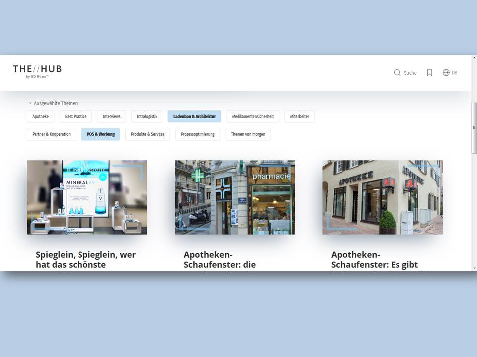 "Titelbild: Screenshot ""The Hub by BD Rowa"" (https://rowahub.com/de/) 25.10.2019"