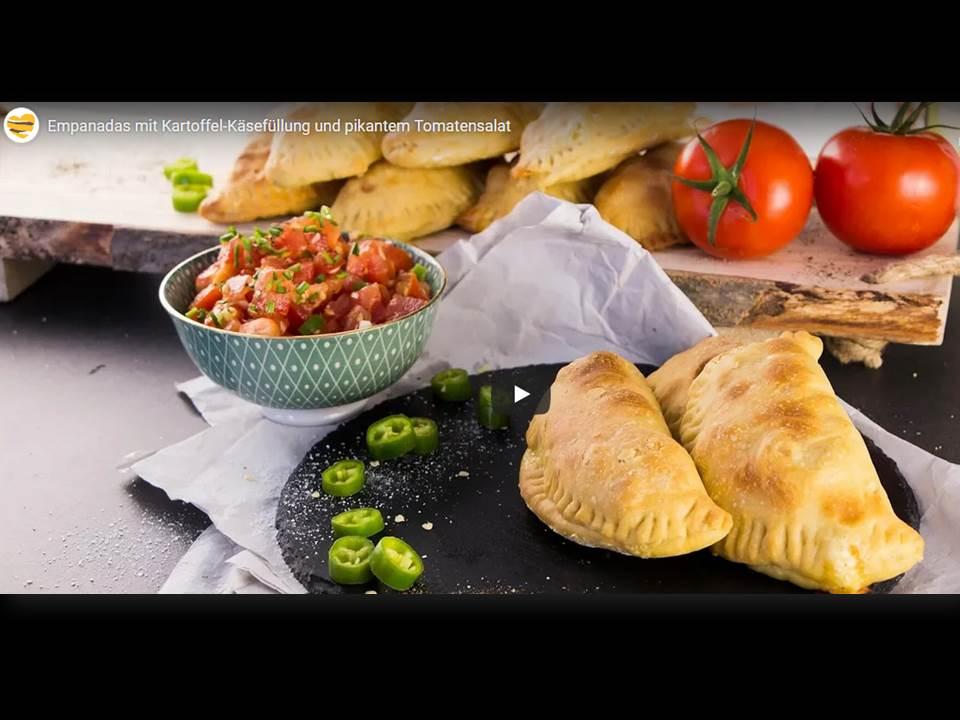 Bild: Screenshot Erklärvideo (Spanische Empandas mit Kartoffeln) auf die-kartoffel.de