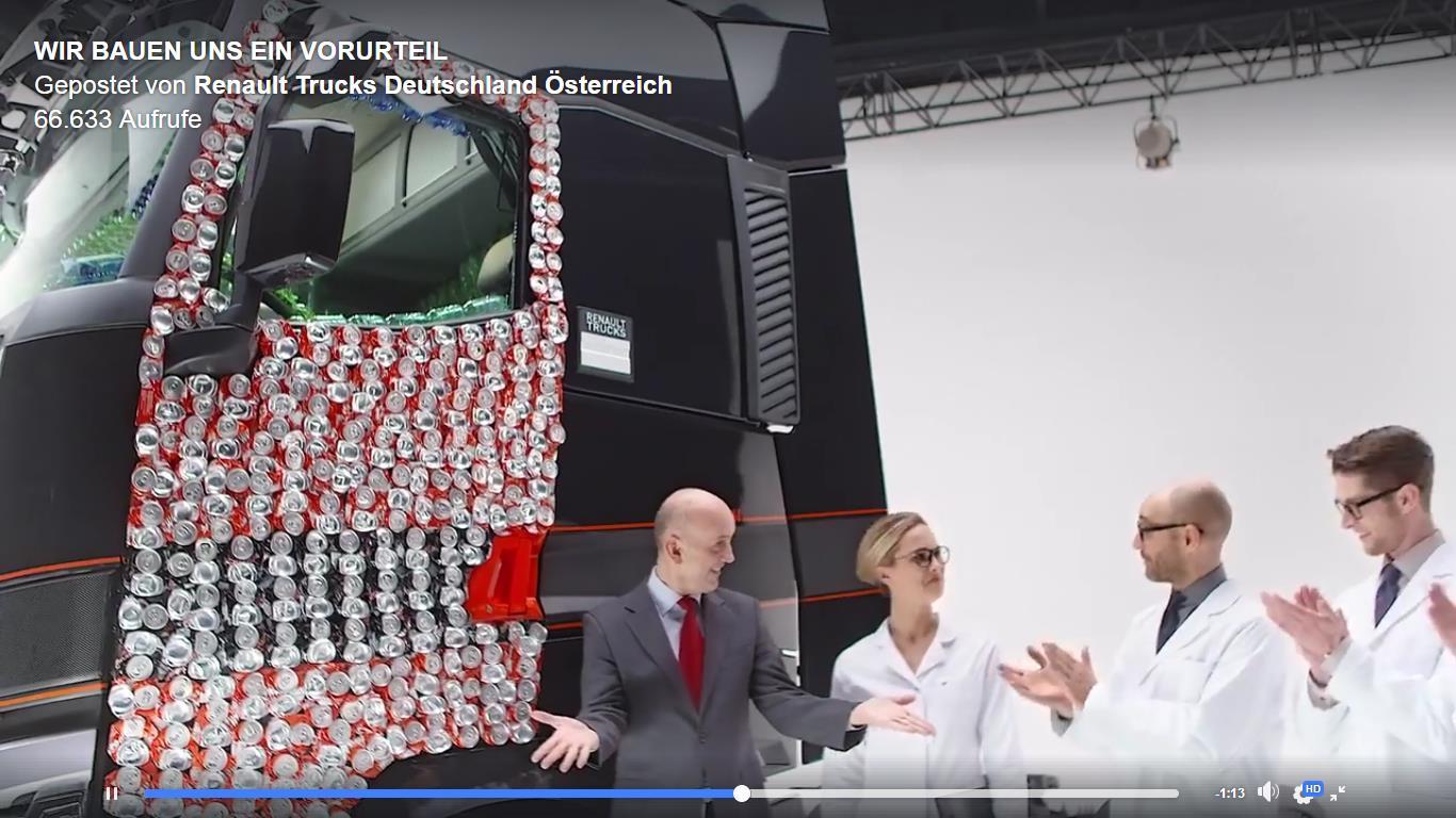 Screenshot Video_Wir bauen uns ein Vorurteil_Renault Trucks | Quelle: https://www.facebook.com/renault.trucks.deutschland